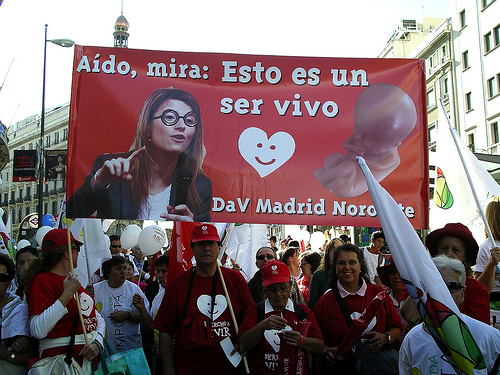 Großdemonstration in Madrid