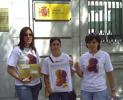 Das Embryomodell vor dem Gleichstellungsministerium